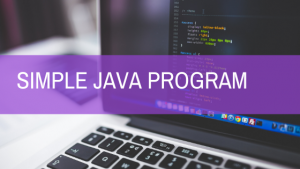 simple java program